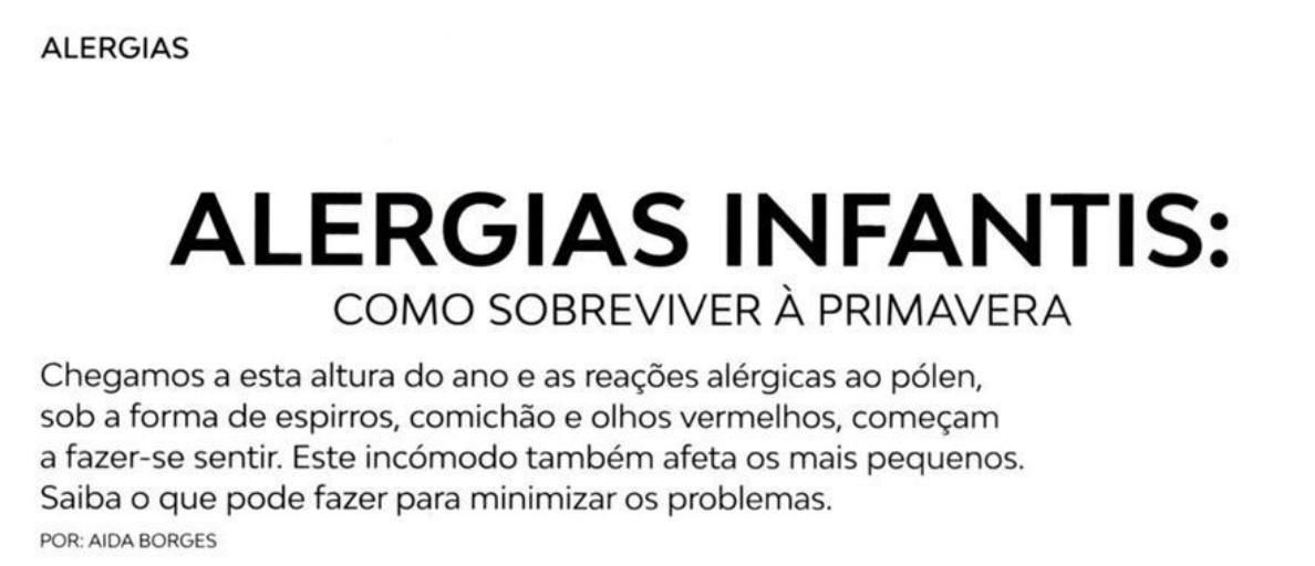 Miúdos e Graúdos - Alergias Infantis
