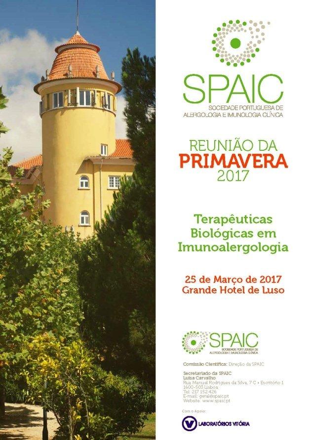 Consulte o programa da 16ª Reunião da Primavera da SPAIC