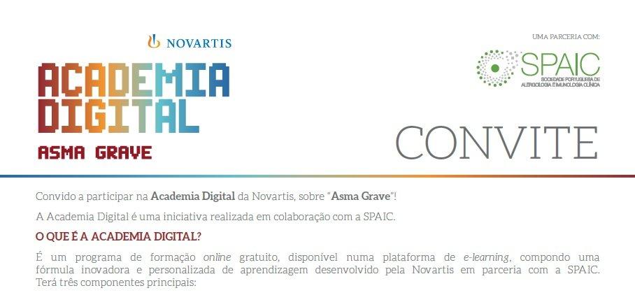 Vídeo de lançamento - ACADEMIA DIGITAL SPAIC NOVARTIS - ASMA GRAVE