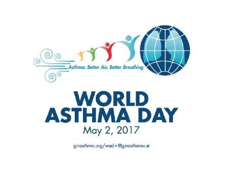 """Dia Mundial da Asma 2017 - """"Asma: melhor ar, melhor respiração"""""""