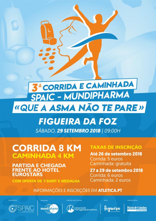 """ÚLTIMO DIA DE INSCRIÇÃO - 3ª Corrida SPAIC – Mundipharma """"Que a Asma não te pare"""""""