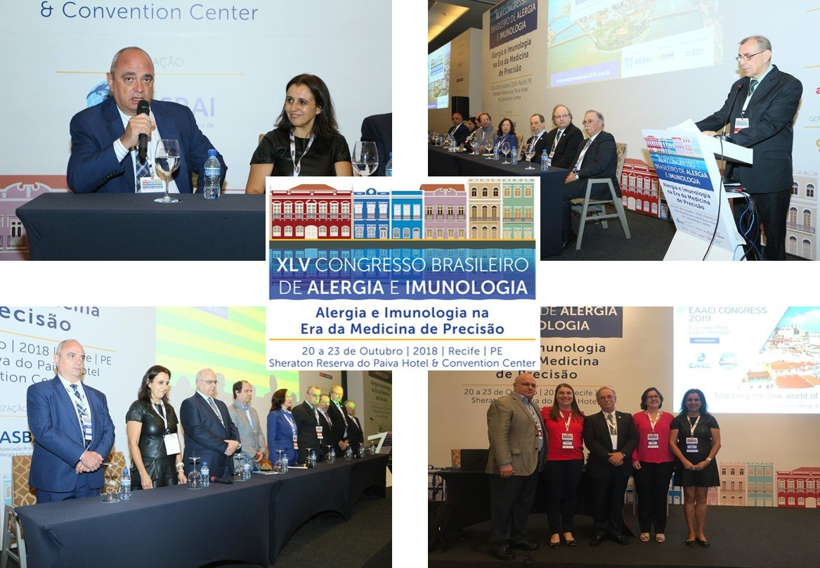 PRESENÇA PORTUGUESA NO 35º CONGRESSO BRASILEIRO DE ALERGIA E IMUNOLOGIA – RECIFE 20 A 23 DE OUTUBRO DE 2018