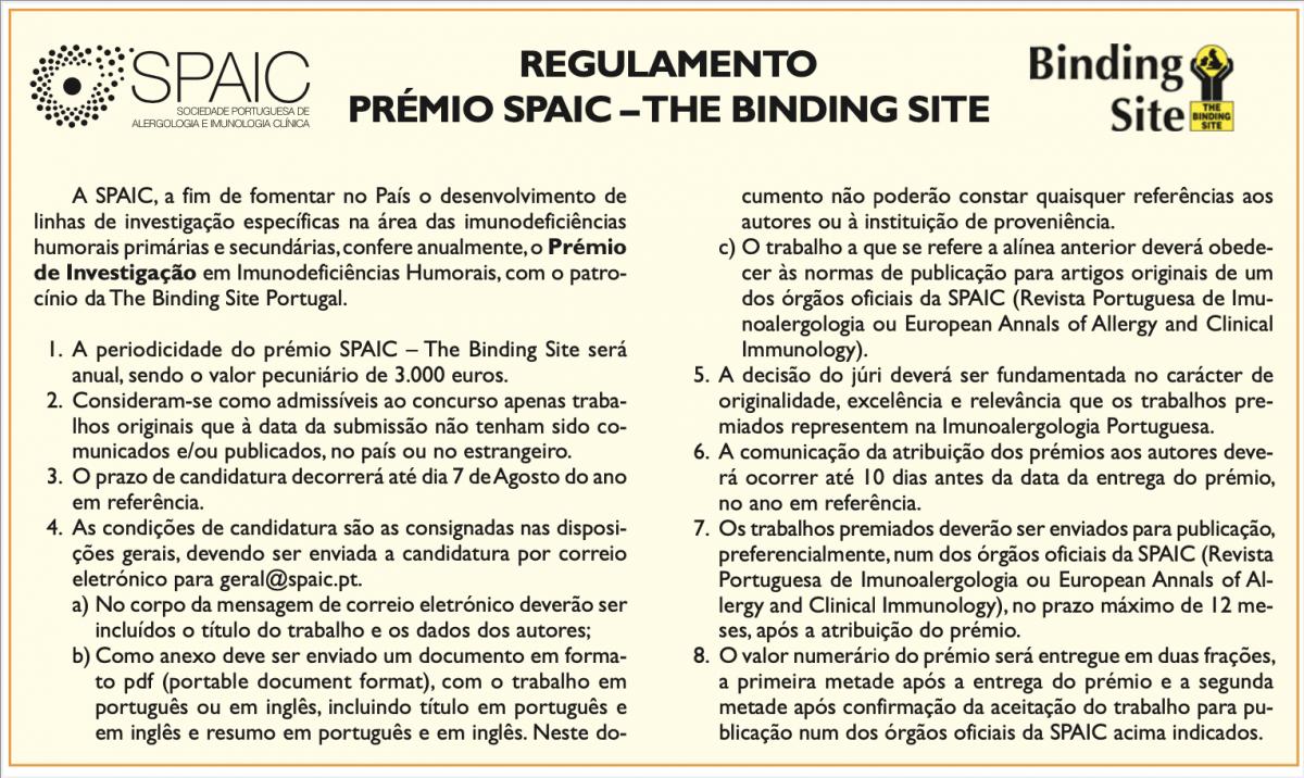 Prémio SPAIC- The Binding Site