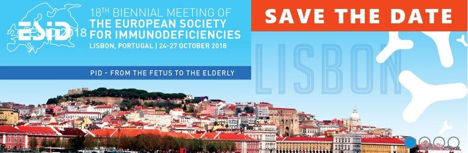 Save the date - 24 a 28 de Outubro de 2018