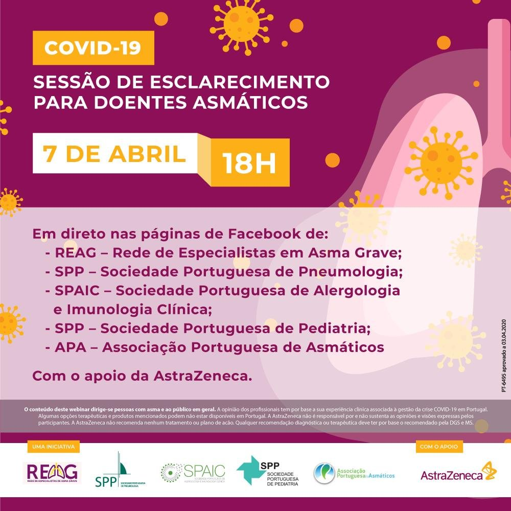 Sessão de esclarecimento para doentes asmáticos sobre a Covid-19