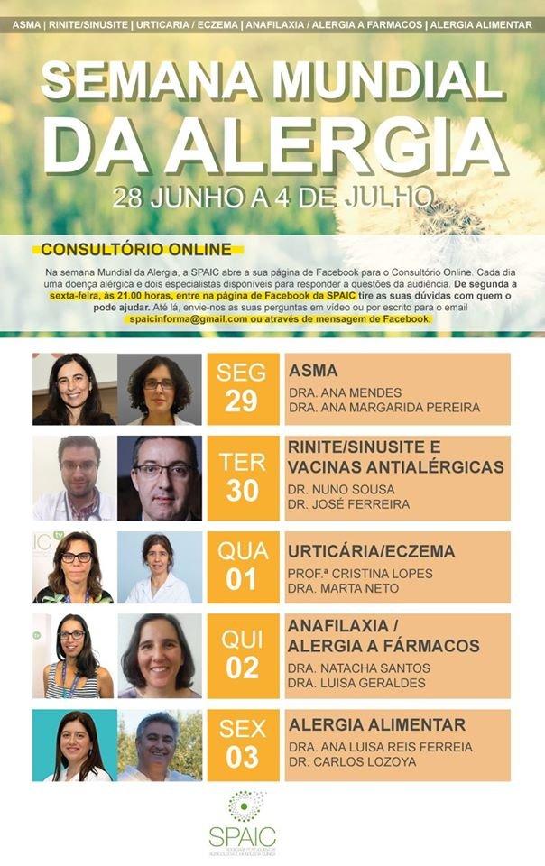 """SPAIC abre """"Consultório Online"""" na Semana Mundial da Alergia"""