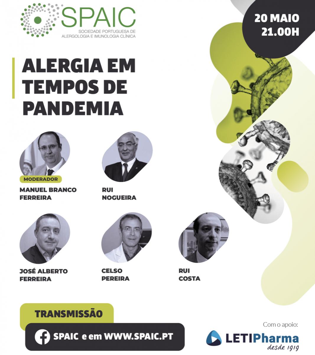 Webinar 20 Maio - Alergia em Tempos de Pandemia