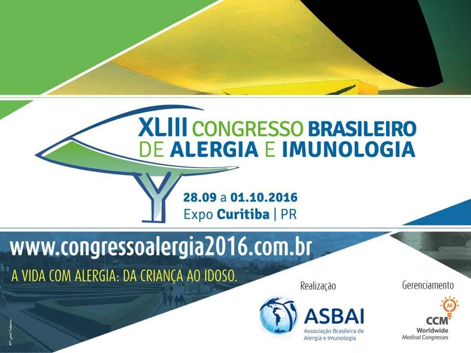 XLIII Congresso Brasileiro de Alergia e Imunologia